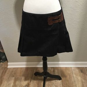 Denim pleated mini skirt by Polo
